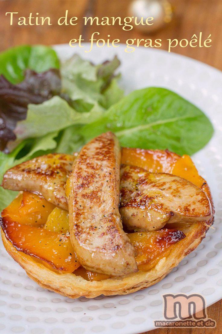 Tatin de mangue et foie gras poêlé