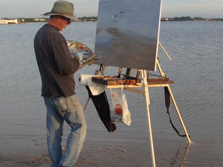 how to set up a portable easel
