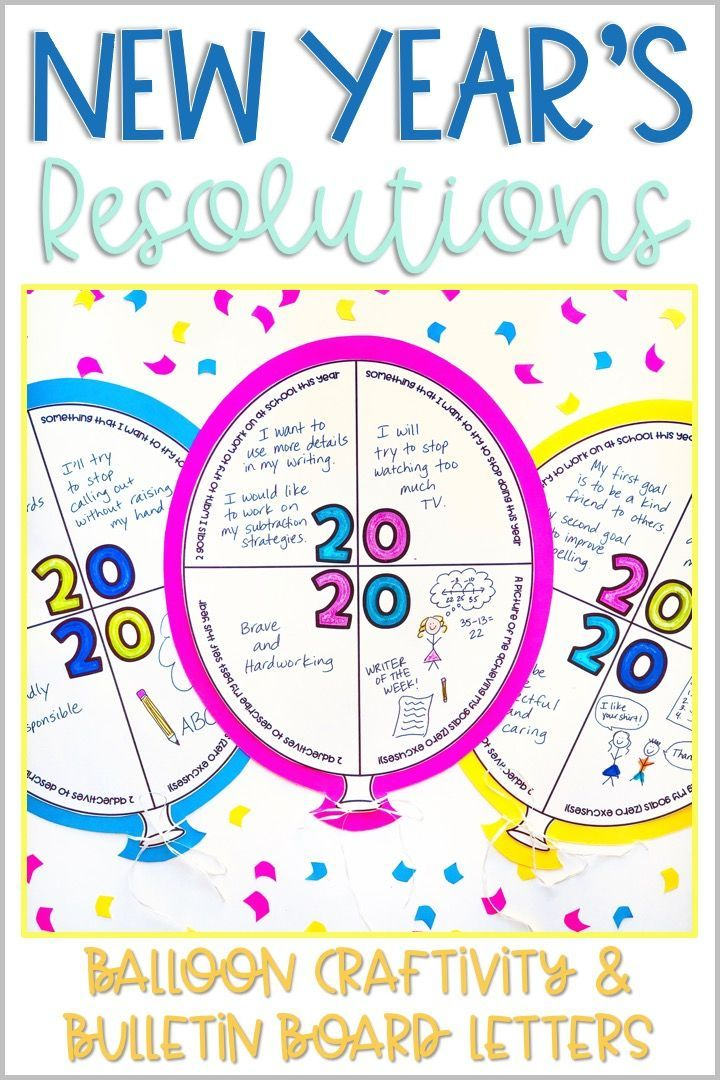New Year's Resolution Writing Crafts 2020 Vision