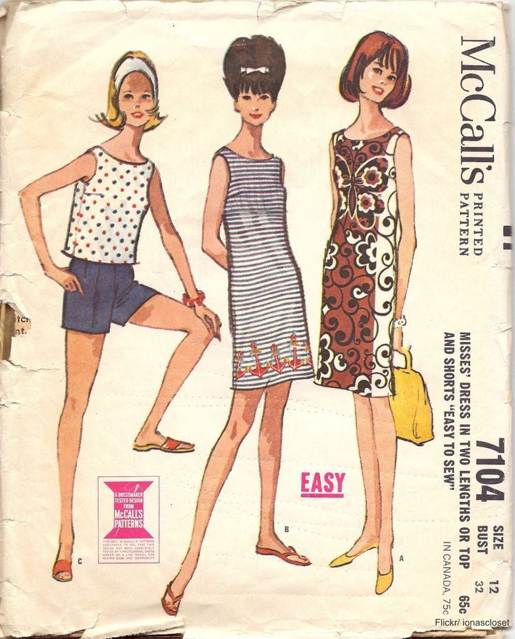 1960s sewing pattern | House of Vintage Fabric & Patterns | Pinterest | Sewing patterns, 1960s ...