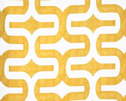 yellow geometric Fabric by the Yard Premier Prints Embrace Corn Yellow White slub cotton home decor upholstery - 1 yard or more - SHIPS FAST