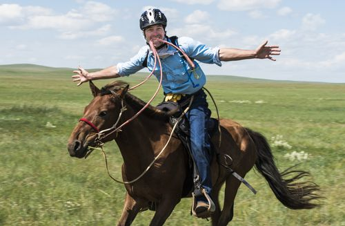 dont try this at home. Mongol Derby, Maxin's adventure