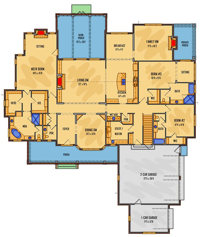 Flexible 3-Bed Farmhouse Plan with Impressive Features - 510019WDY | Architectural Designs - House Plans