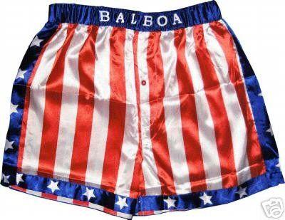 NNNNNNNNNNNEEEEEEEEEEEEDDDDDDDDDDDDDD Rocky Balboa Apollo Movie Boxing American Flag Shorts $17.95
