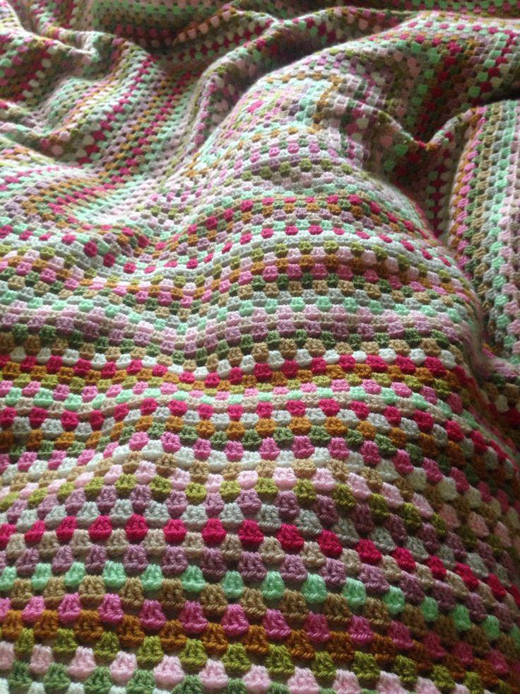 Giant granny square bedroom blanket