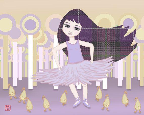 #sophie #purple #dancing #dancer #yellow #girl #nursery #room #daughter #sister #cute #whimsical #www.greenhoneydew.com #ballet #tutu #chicks #chicken #lollipop