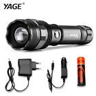 Tactical Led Torch Flashlight Cree Battery Charger Lamp Zoomable Light Military