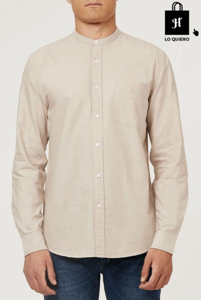 Camisa Cuello Mao Manga Larga Topman - Jotahoma Blog Moda para Hombre #Jotahoma #Blog #ModaHombre #Camisa #CuelloMao