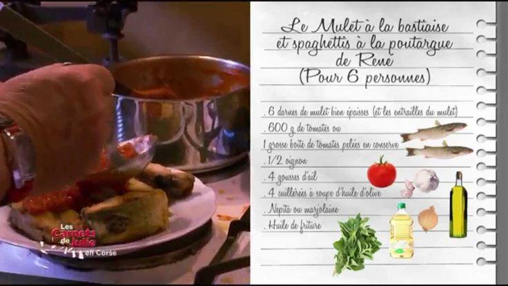 Recette : mulet à la bastiaise et spaghettis à la poutargue - Les carnet...