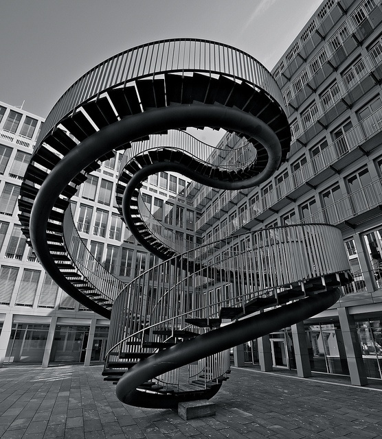 The Impossible Staircase in Munich  Umschreibung by Olafur Eliasson