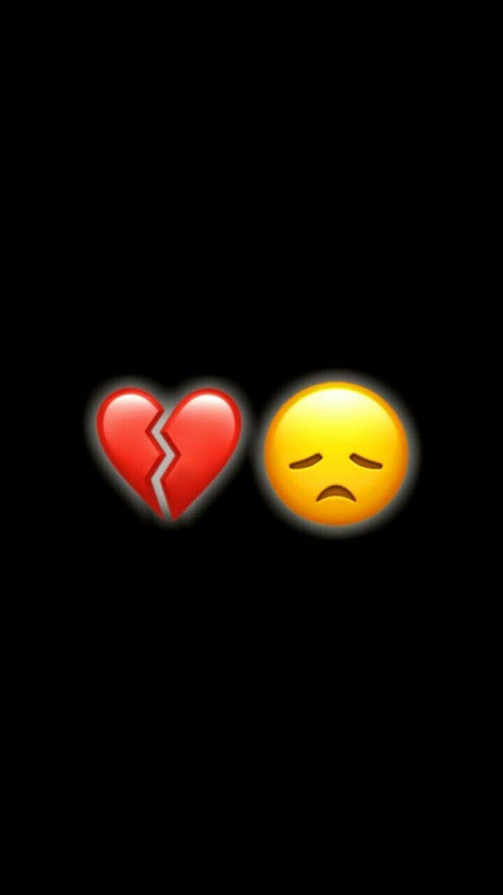 emoji broken sad heart iphone hurt wallpapers screen pantalla fondo backgrounds simpson hintergrund snapchat relationship fondos mood alone disney negro