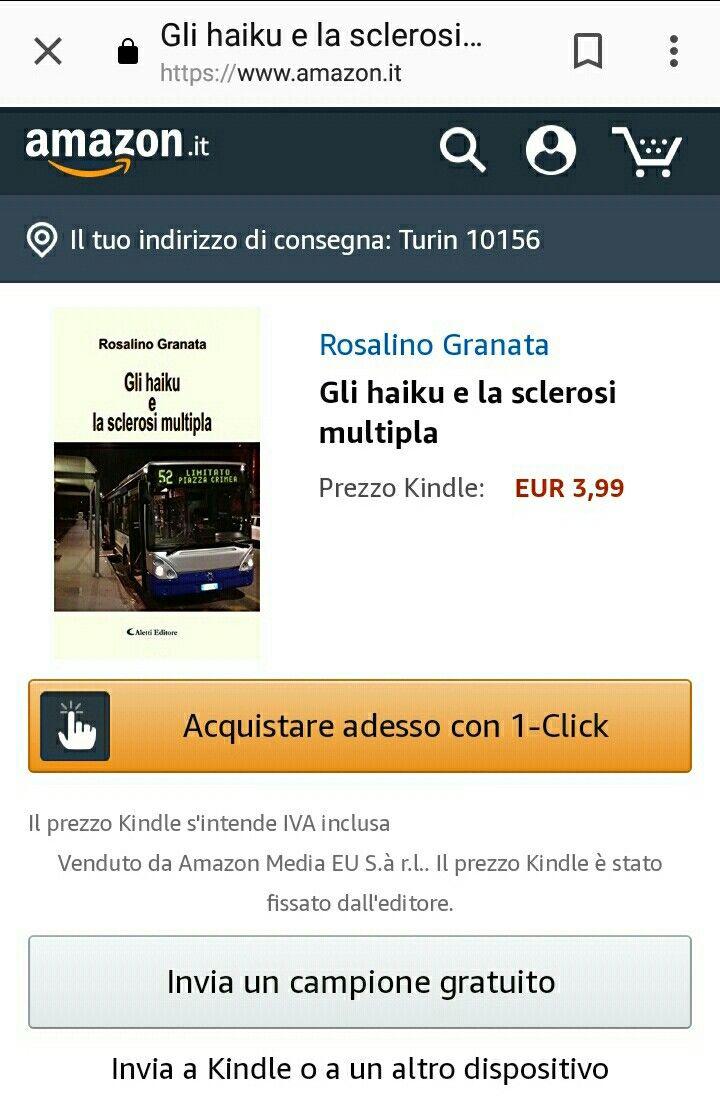 È disponibile l'e-book del mio romanzo #glihaikuelasclerosimultipla su Amazon e sui vari stores online. Cosa aspettate? Acquistatelo... il vostro #Guido non vi deluderà!
