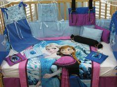 etsy    £239 Disney's Frozen Queen Elsa and Princess Anna 15 Piece Baby Bedding Crib Set