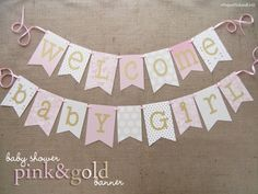 Hey, I found this really awesome Etsy listing at https://www.etsy.com/listing/233786286/pink-and-gold-baby-shower-banner