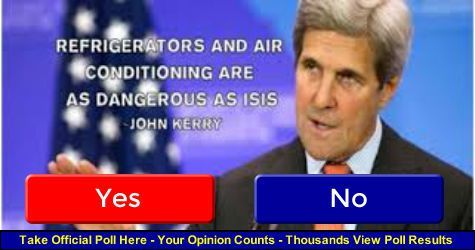 Secretary of State John Kerrysaid in Vienna on Friday that air conditioners and refrigerators are as big of a threat to life as the threat of terrorism posed by groups like the Islamic State. Kerr…     This man is not dealing with a full deck.   He should resign!!
