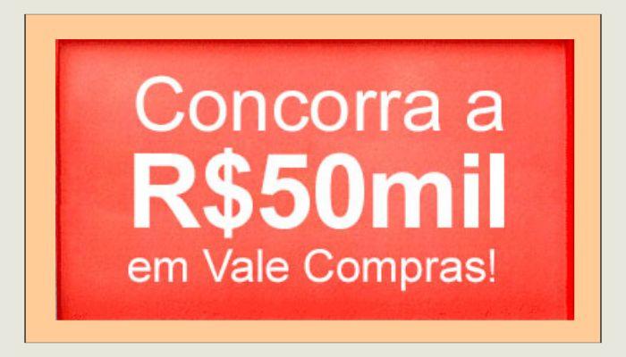 Vale compras no valor de 50 MIL REAIS! Confira como participar dessa promoção incrível, oferecida pela Americanas: www.ofertasnaweb.com
