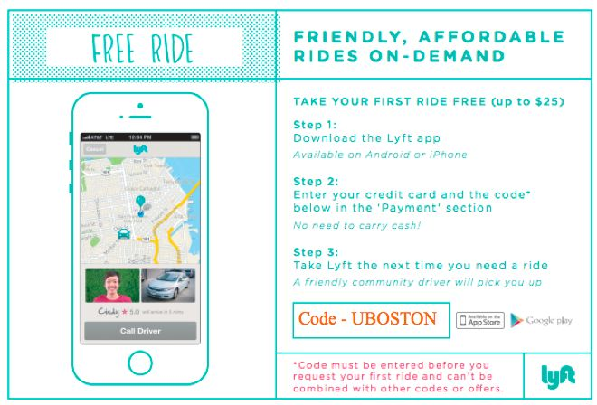 Lyft boston coupon code