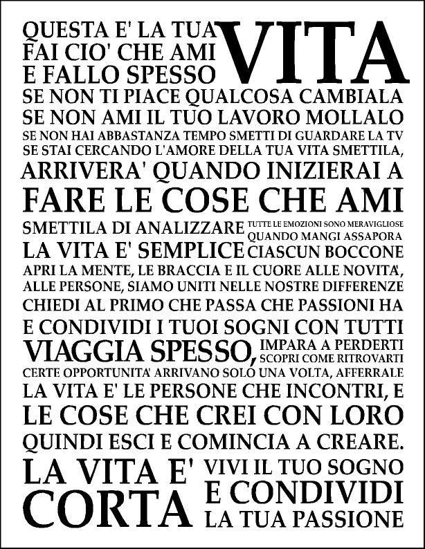 Holstee Manifesto in italiano