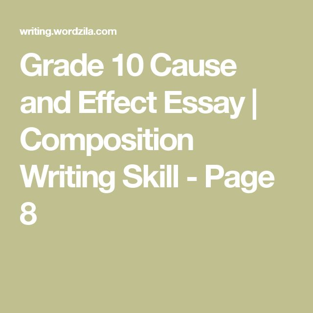 English composition cause and effect essay