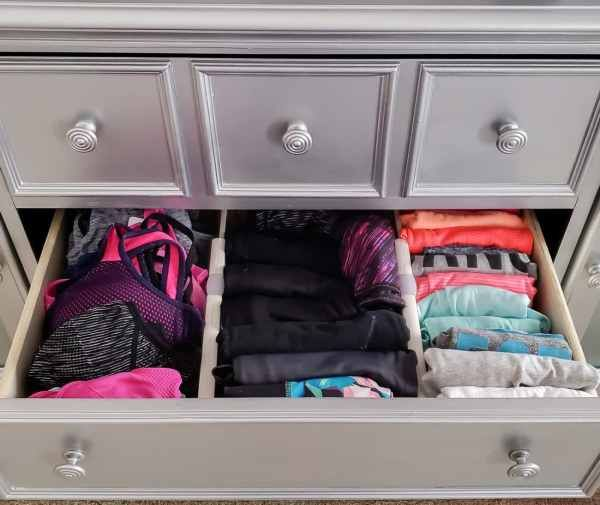Getting Ready For The Gym Is Easier When Your Workout Clothes Are Organized Love Dresser Organization Clothes Drawer Organization Dresser Drawer Organization