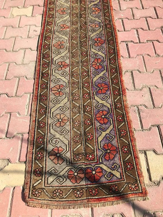 31 Inc X 10 Ft Runner Turkish Runner Long Hallway Runner Etsy Vintage Rugs Vintage Turkish Rugs Rug Runner