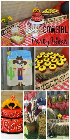 Such cute ideas at this cowgirl birthday party! See party ideas at CatchMyParty.com.