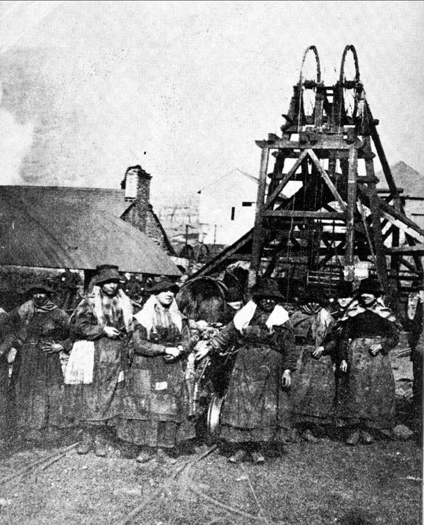 Around 1880, women hauliers working above ground at Abergorki Colliery, Treorchy...