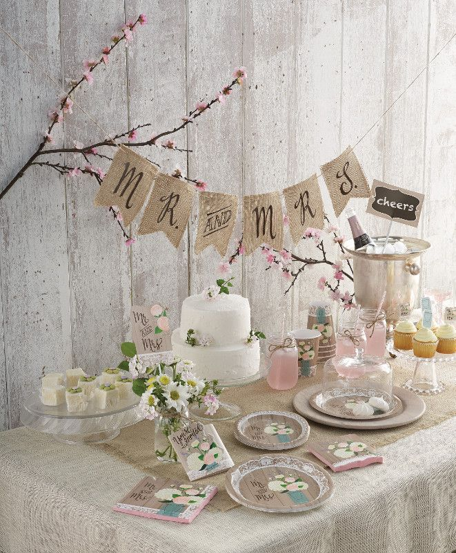 Bridal shower set up with Rustic romantic theme | Bridal ...