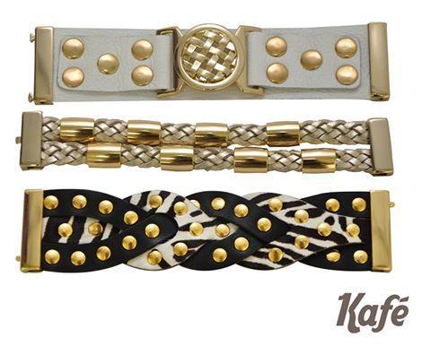 Mix'n'match Kafé; misture braceletes e crie um visual único!  #adoro #adoropresentes #lojavirtual #lojaonline #acessorios #braceletes #pulseiras #kafe #akfeacessorios #couro #moda #modafeminina