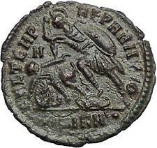 CONSTANTIUS II Constantine the Great son Ancient Roman Coin Battle Horse i54815