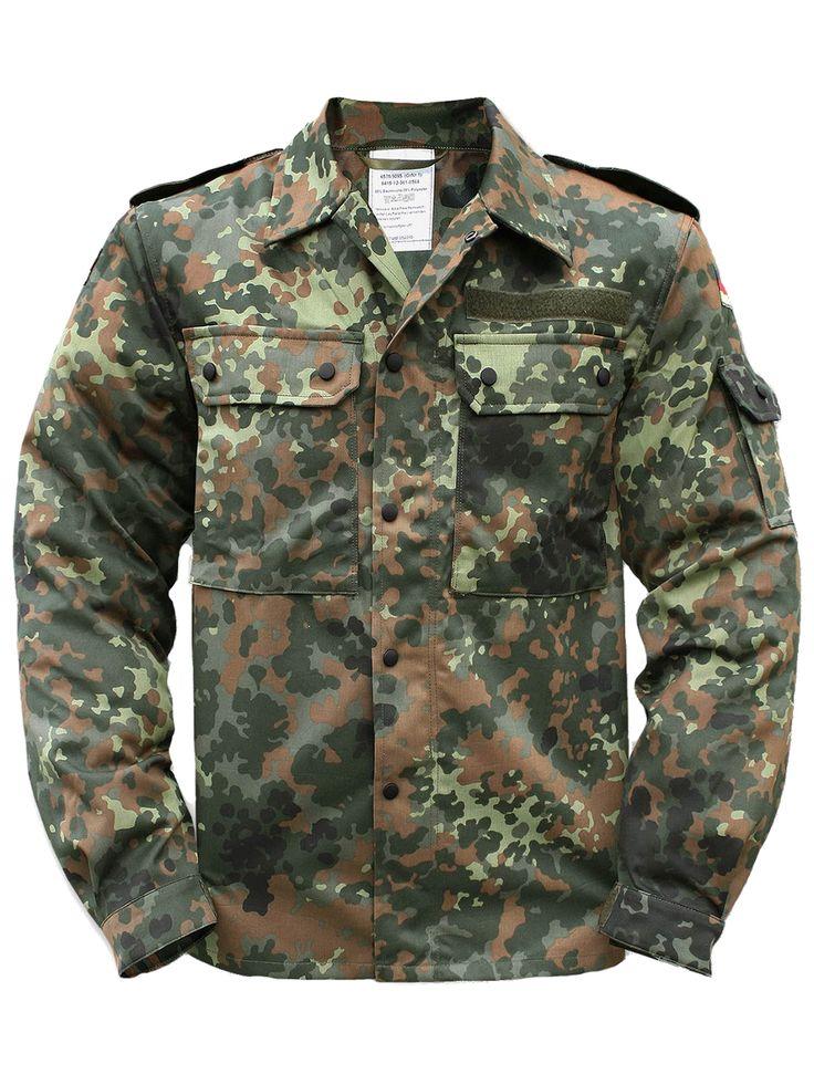 Toller Preis!!   Die Bundeswehr Feldjacke ist aus 65 % Baumwolle und 35 % Polyester. Die Jacke wird auch Feldbluse oder Feldhemd genannt. Die Feldbluse wurde ausgemustert und befindet sich in einem guten gebrauchten Zustand.