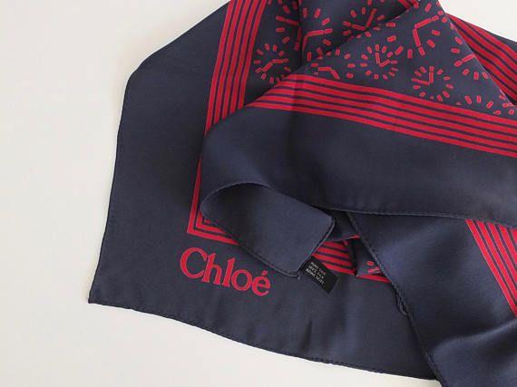 Chloé/foulard femme/foulard soie/chloe shop/vintage silk