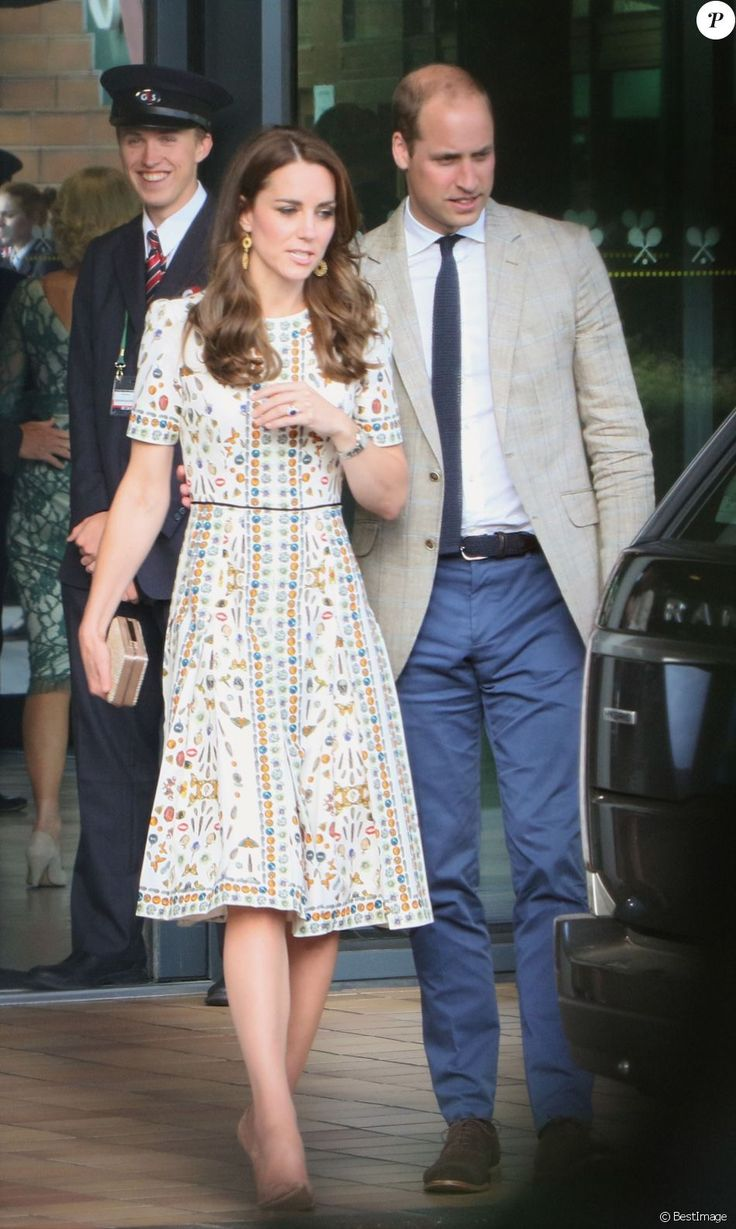 July 10, 2016: This image shows the Duke and Duchess of Cambridge leaving Wimbledon.