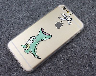 Dinosaur waiting to eat Apple Cute phone soft case for iPhone 5/5S/6/6S plus
