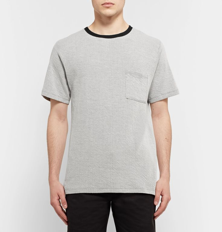<a href='http://www.mrporter.com/mens/Designers/Saturdays_NYC'>Saturdays NYC</a>'s 'Randall Field' T-shirt is made from double-faced ribbed cotton rendered in black and off-white for a cool contrast. It has a soft feel and relaxed fit, making it ideal for teaming with weekend staples like jeans and sweatpants.