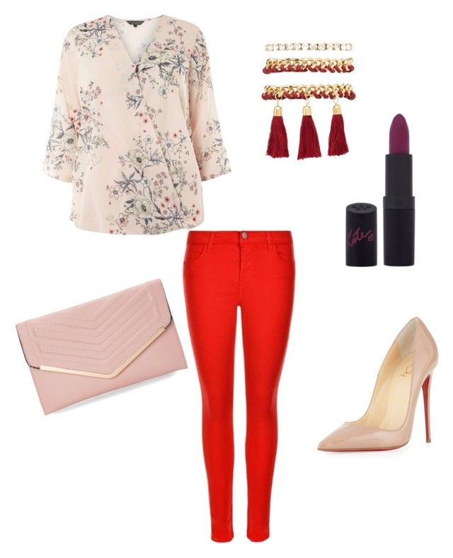 """""""Untitled #57"""" by erikaelena23 on Polyvore featuring Billie & Blossom, J Brand, Christian Louboutin, Charlotte Russe, Rimmel and Sasha"""