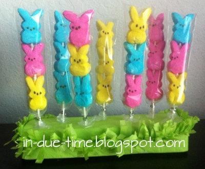 Peep suckers/lollipops for Easter/Spring! induetime