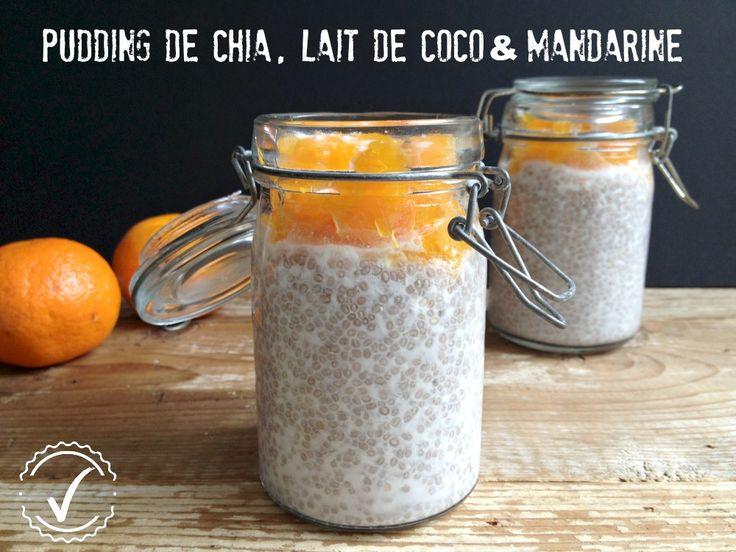 pudding chia lait de coco madarine