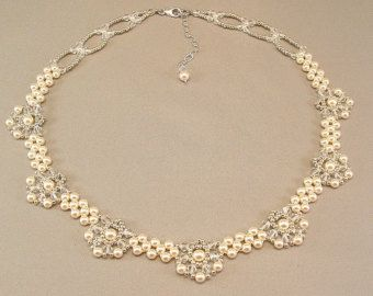 Regal Elegance Woven Bridal Statement Necklace by BridalDiamantes