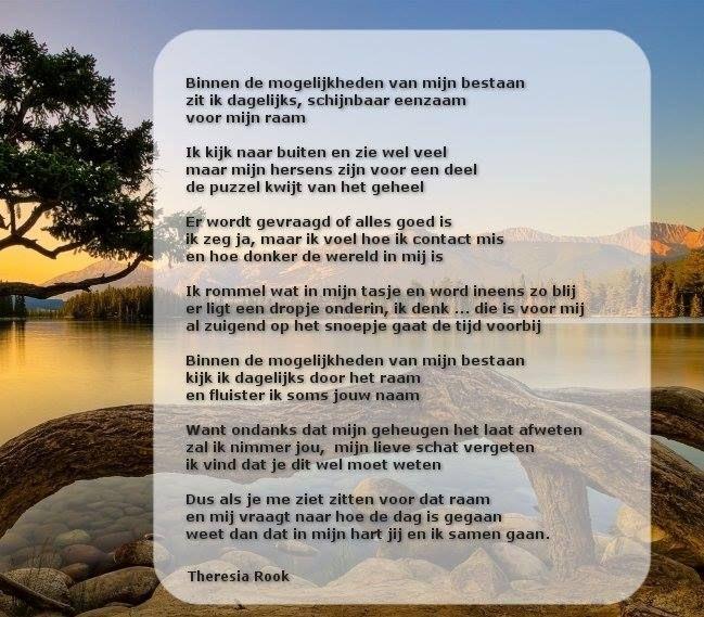 Wat een prachtige tekst van Theresia Rook!