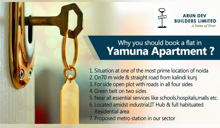 Your Dream Home is awaiting for your arrival.  Reasons to buy an Apartment in Yamuna Apartment, Residential Project, Noida.