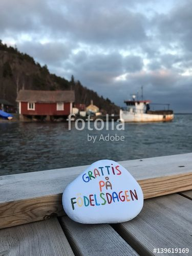 "Download the royalty-free photo ""Grattis på födelsedagen, Happy Birthday in swedish on a stone "" created by Ciaobucarest at the lowest price on Fotolia.com. Browse our cheap image bank online to find the perfect stock photo for your marketing projects!"