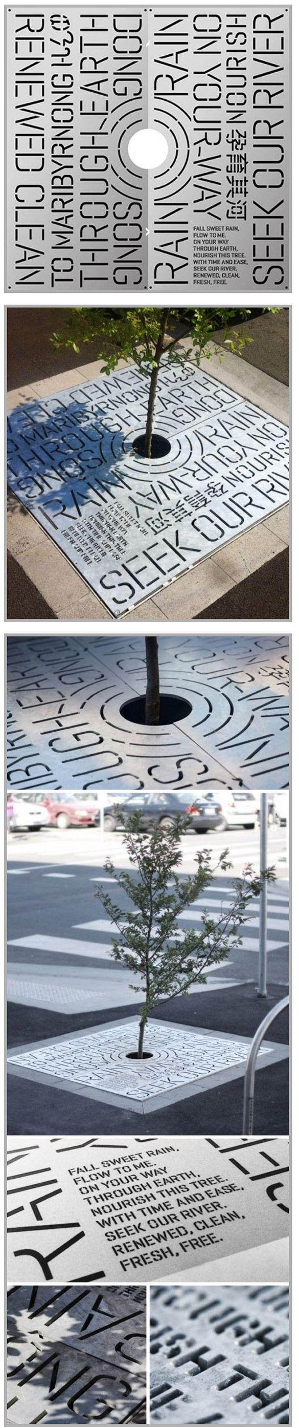Quand un arbre pousse sur de la typographie.