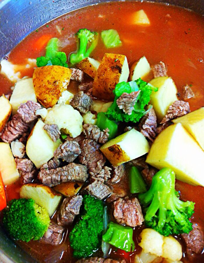 Beef soup on a Cold Day
