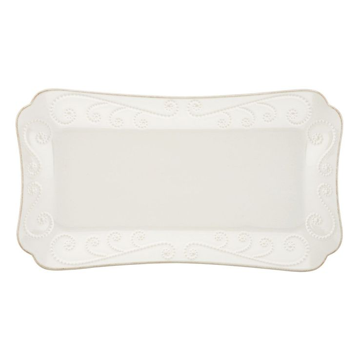 Lenox French Perle Hors d'Oeuveres Tray (White) (Stoneware, Solid)