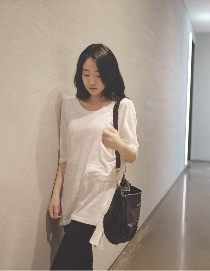 [reflower] 롱왕포켓티셔츠/Big pocket t-shirts : 리플라워
