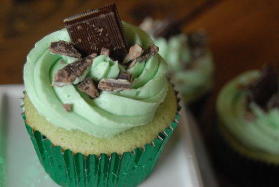Mint Shamrock Milkshake Cupcakes.