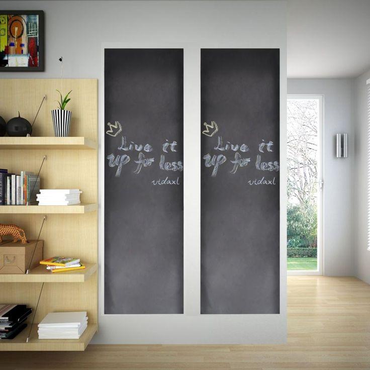 Wall Sticker Blackboard 0,45 x 2 m 2 Rolls with Chalks