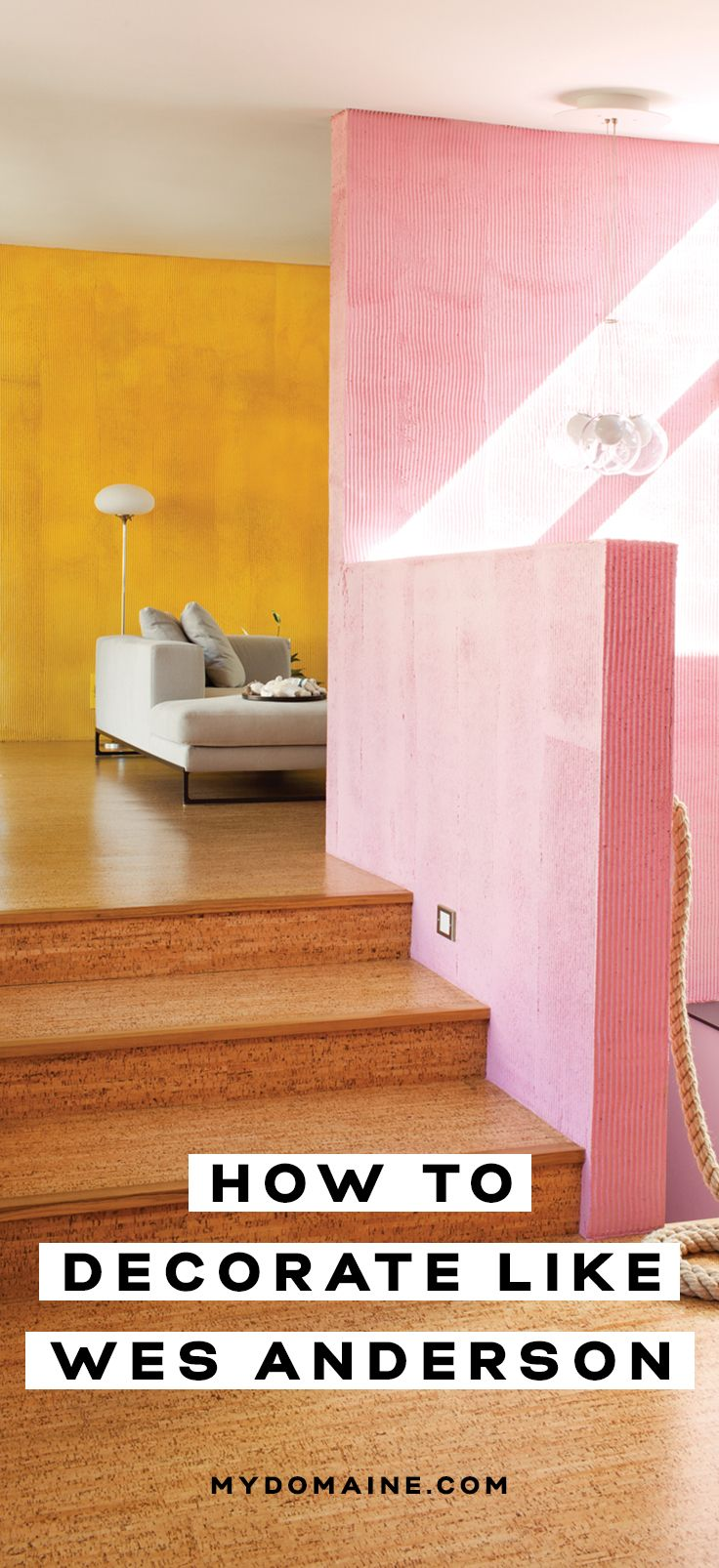 Décor inspiration from iconic film maker, Wes Anderson
