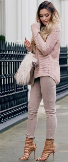 Pink Cozy Turtleneck | In the nude Winter Street Style | That Pommie Girl #pink